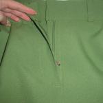 Как вшить застежку молнию в брюки. Гульфик, откосок, подзор