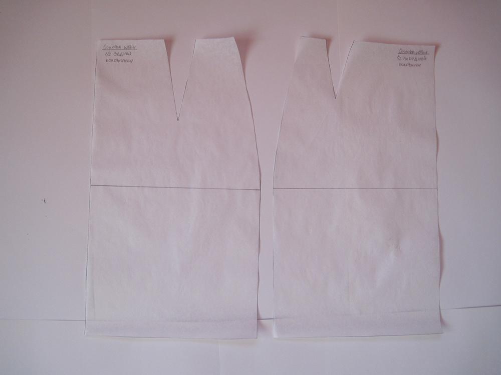 Выкройка прямой юбки на кальке