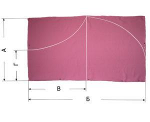 Чертеж на ткани
