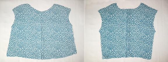 Детали верха блузки