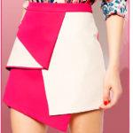 Выкройка юбки трапеции в стиле колор блокинг