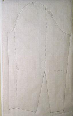 Выкройка рукава для платья/блузки (чертеж на бумаге)