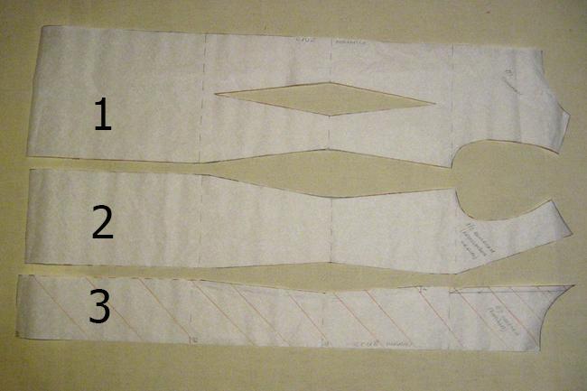 Детали полочки и спинки