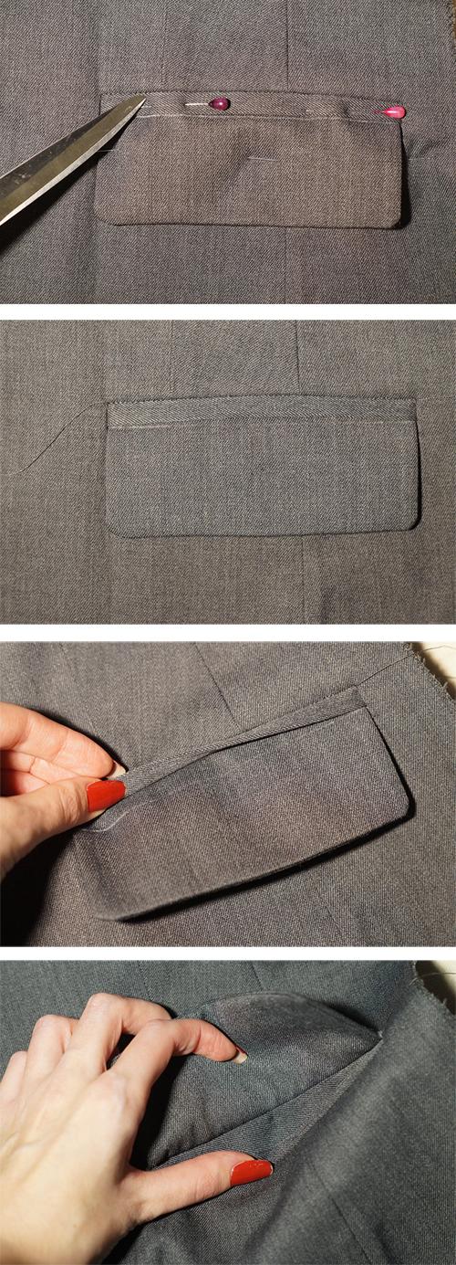Как сшить карман с клапаном