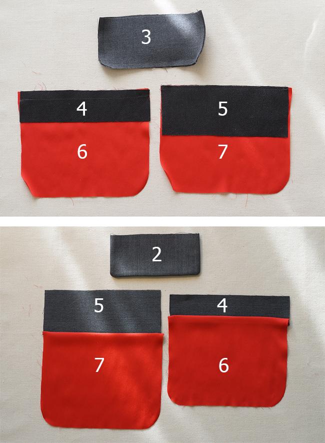 Подготовка деталей кармана