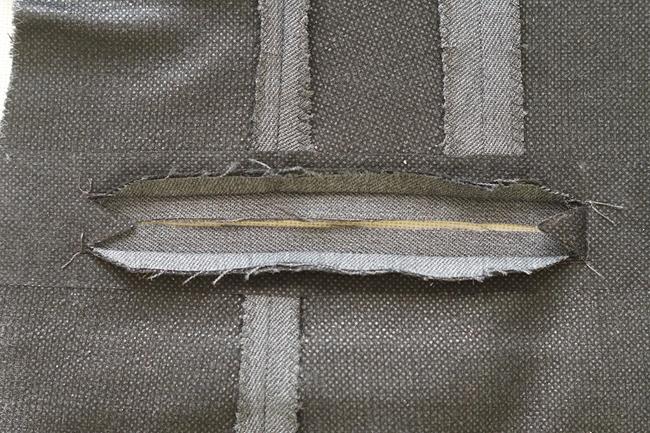 Разутюживаем края разреза