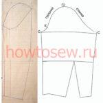 Базовая выкройка рукава для платья/блузки (Мюллер)
