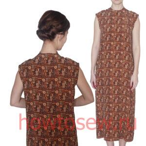 Базовая основа прямого платья