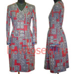 Трикотажное платье с поясом