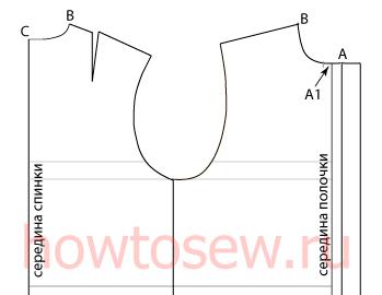 Выкройка воротника мужской рубашки