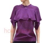 Блуза с воланом: пошив