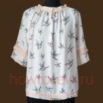 Блуза крестьянского кроя с кружевом