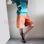 Юбка-брюки из вельвета