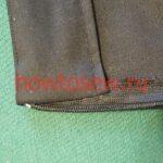 Подкройная обтачка верха юбки