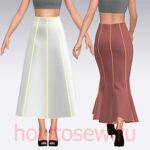 Простая выкройка юбки 8-клинки (расклешенной и годе)