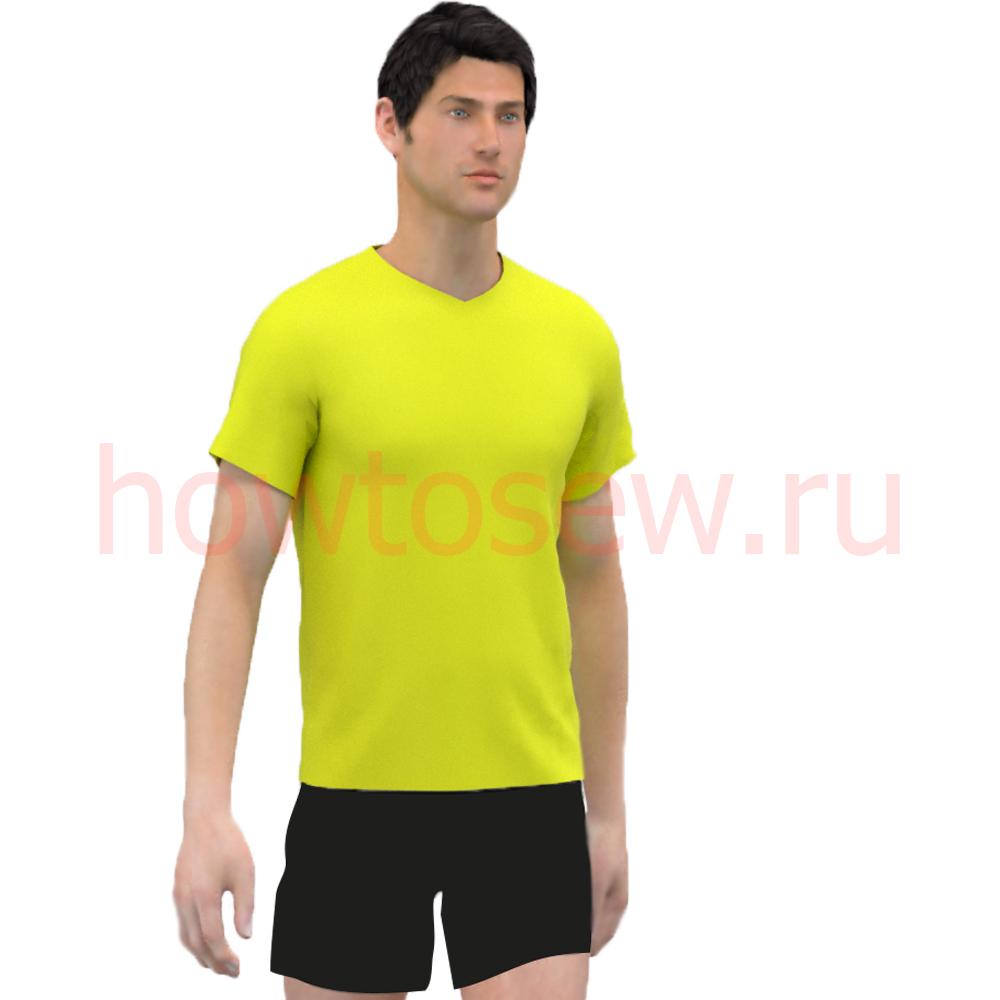 Выкройка мужской футболки по итальянской методике