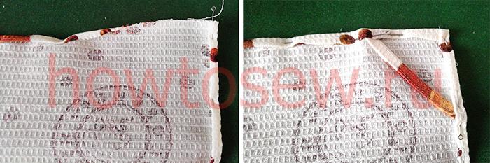 Как сшить кухонное полотенце своими руками из вафельной ткани