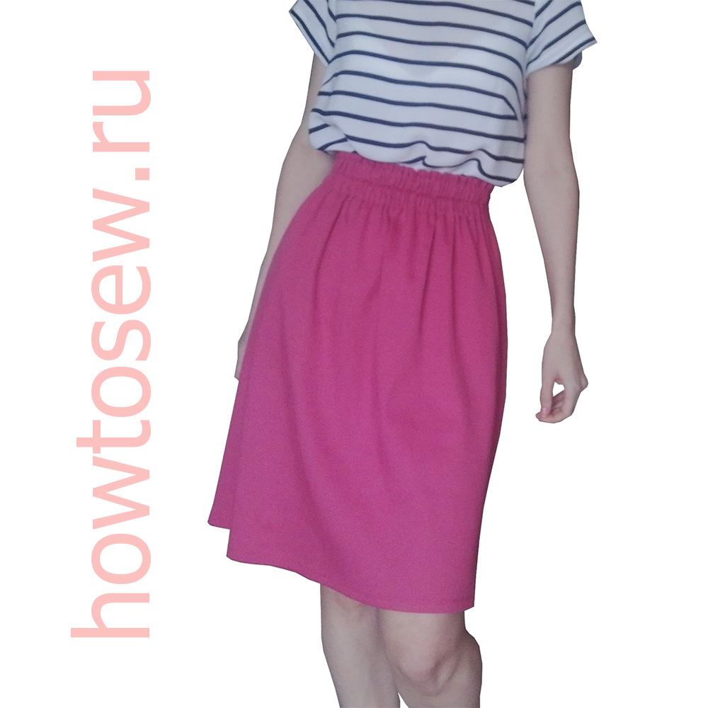 Прямая юбка без вертикальных швов