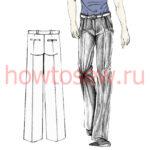 Моделирование деталей мужских классических брюк