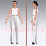 Базовая выкройка основы женских классических брюк